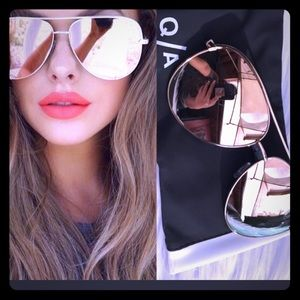 Gold/rose gold sunnies by quay Australia